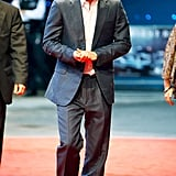Prince Harry went to the London The Dark Knight Rises premiere.