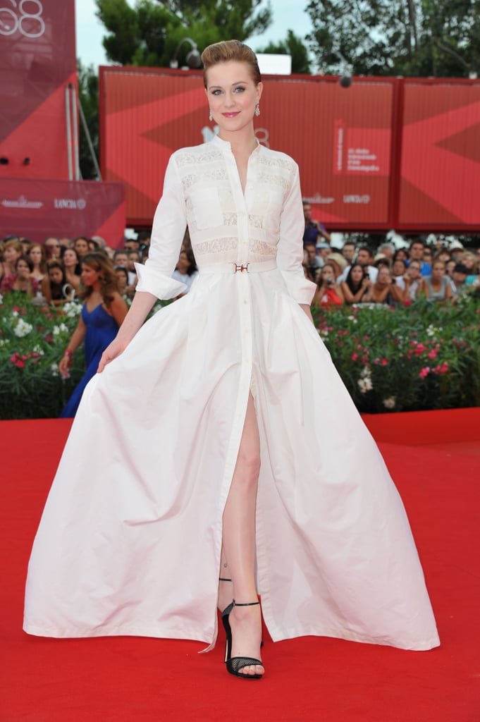 Evan Rachel Wood in Alessandra Rich.