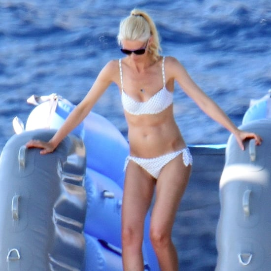Claudia Schiffer in a White Bikini in Italy August 2017