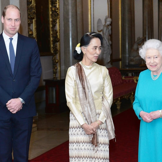 Prince William Queen Elizabeth at Buckingham Palace May 2017