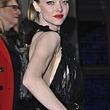 Amanda Seyfried wore her hair up for the Les Misérables premiere on Saturday.