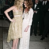 Ashley and Mary-Kate Olsen shared a private giggle at the 2005 event.