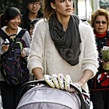Jessica Alba shopping with Haven.