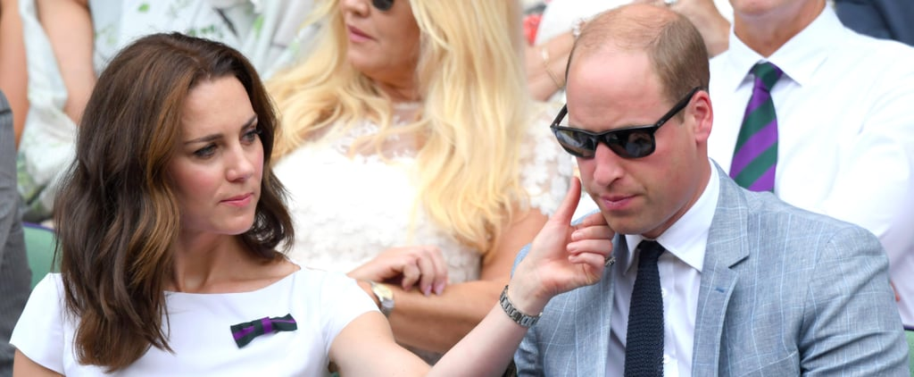 Prince William and Kate Middleton Share a Rare PDA Moment at Wimbledon