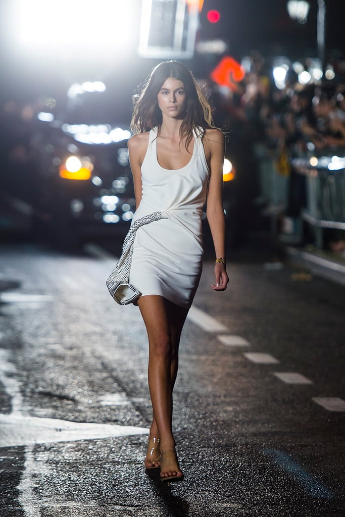Kaia Opened the Alexander Wang Show in a White Mini Dress