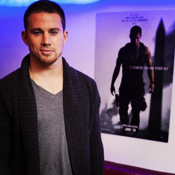 Channing Tatum promoted his new movie White House Down in London. Source: Instagram user channingtatumun