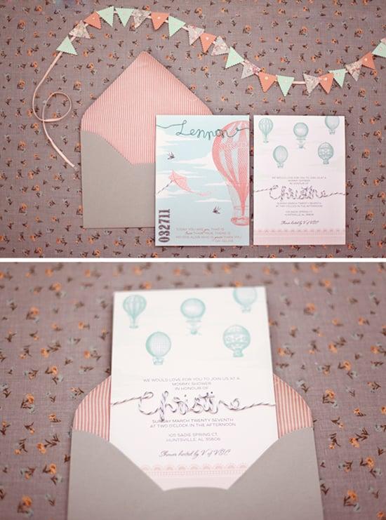 Fabric and Twine Invites