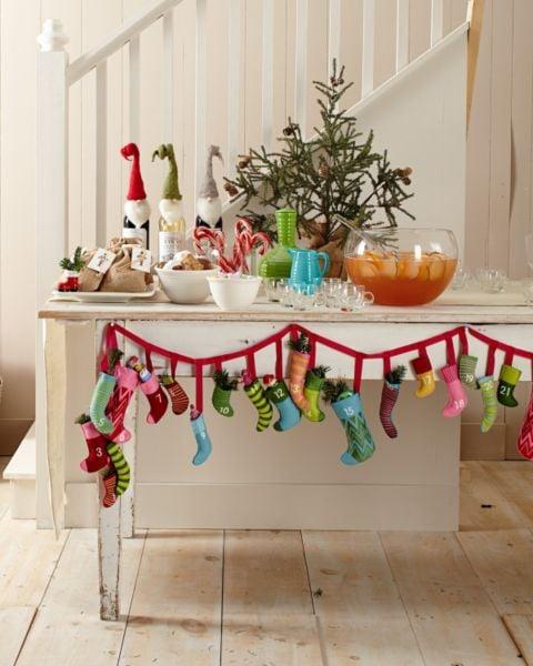 Buy: Garnet Hill's Mini Felt Stockings Advent Calendar