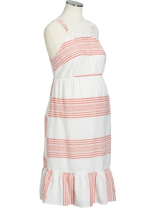 This easy linen sundress ($15, originally $35) from Old Navy incorporates a pop of color with its stripes. Wear it alone while it's still warm out, and once it cools, throw on a pullover sweater that shows off the fun peplum hem.