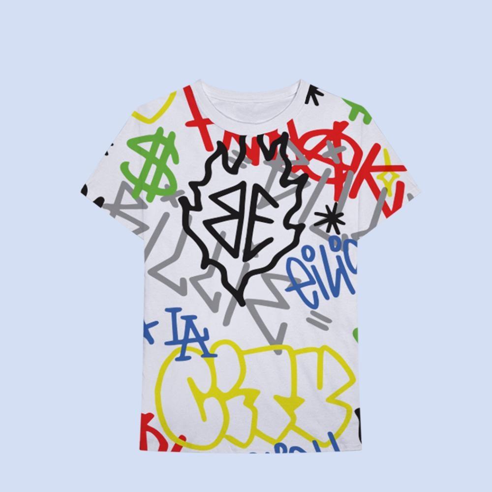 Graffiti All Over Print T-Shirt