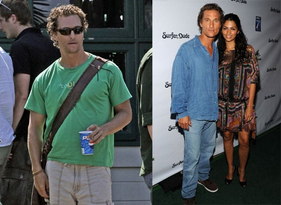 Photos of Matthew McConaughey and Camila Alves at a Surfer, Dude Screening