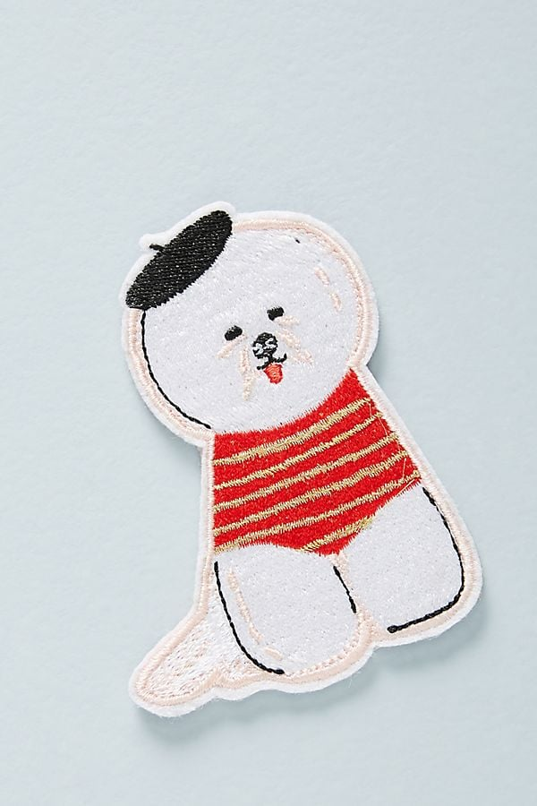 Anthropologie Bichon Sticker Patch
