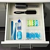 Clear Bathroom Stackable Drawer Organisers Starter Kit