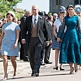 Princess Eugenie, Prince Andrew, and Princess Beatrice