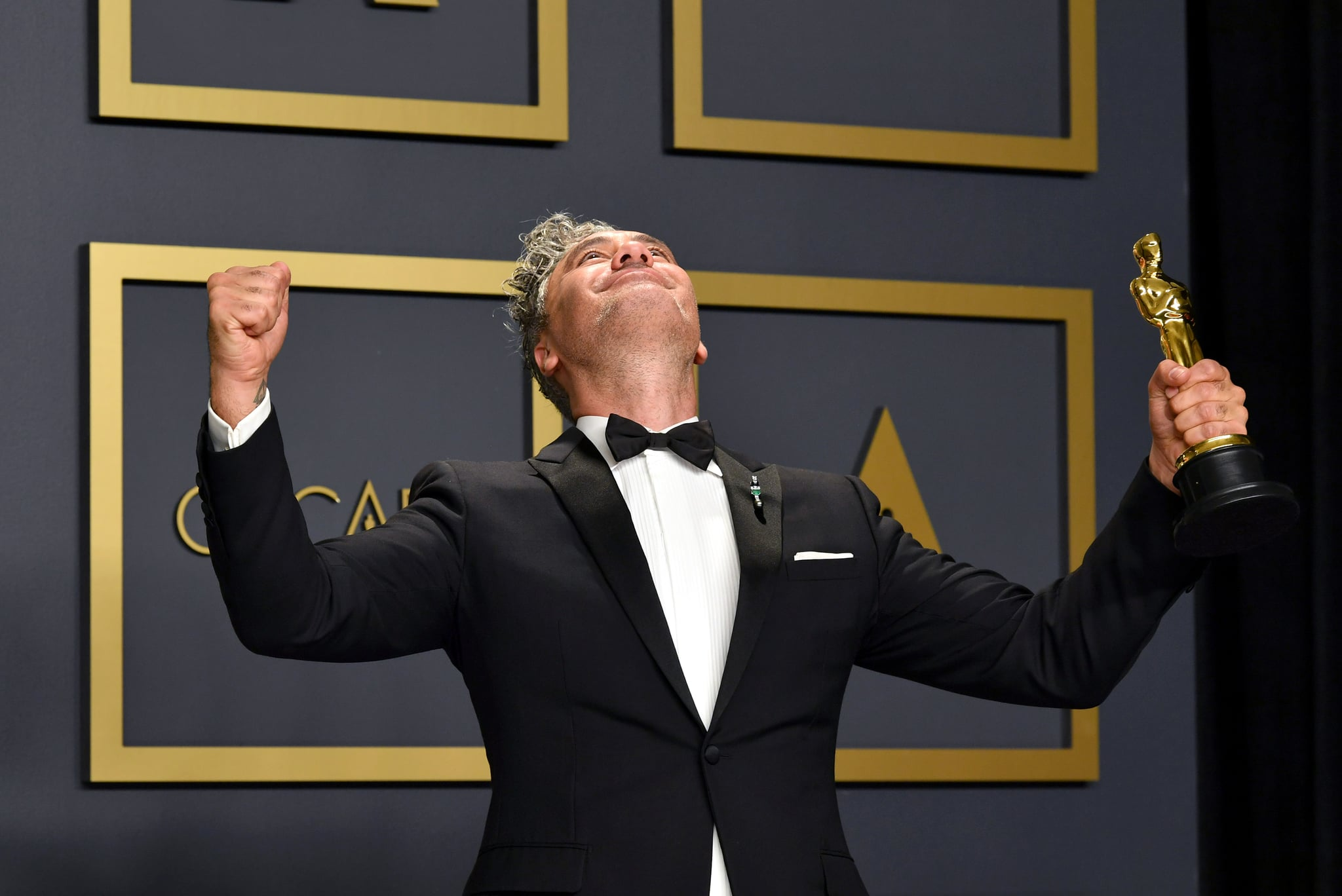 HOLLYWOOD, CALIFORNIA - FEBRUARY 09: Director Taika Waititi, winner of the Adapted Screenplay award for