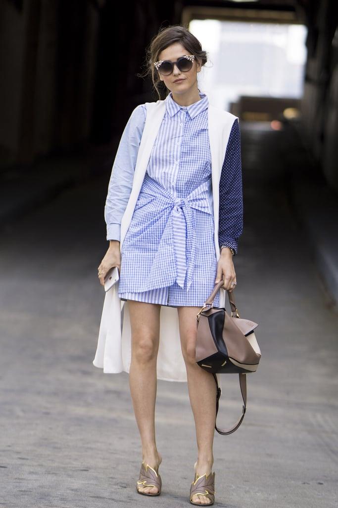 Paola Alberdi with a Loewe bag at New York Fashion WeekSpring 2017