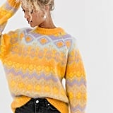 ASOS Design Premium Oversized Brushed Fairisle Jumper