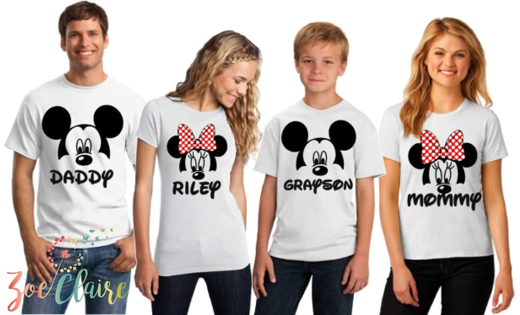 Matching Disney Family Shirts in White | Matching Family Disney ...