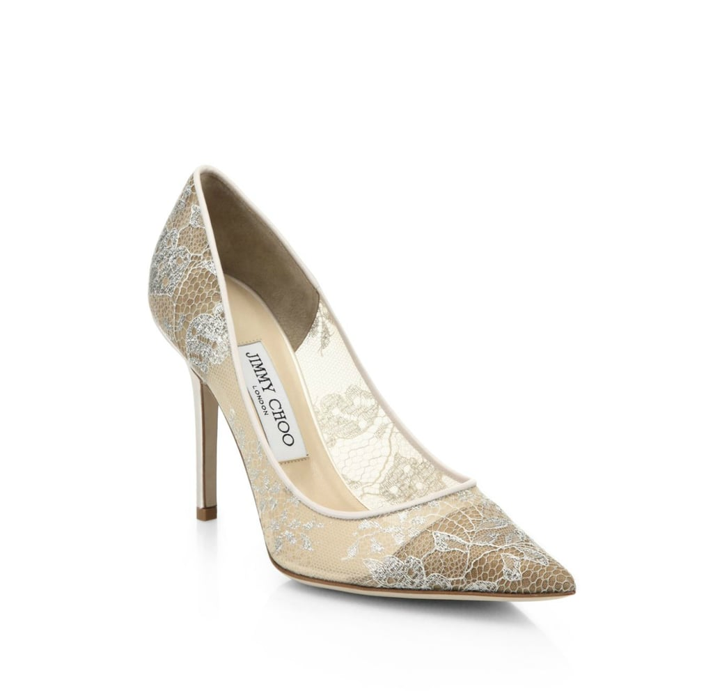 Jimmy Choo Abel Lace Point-Toe Pumps