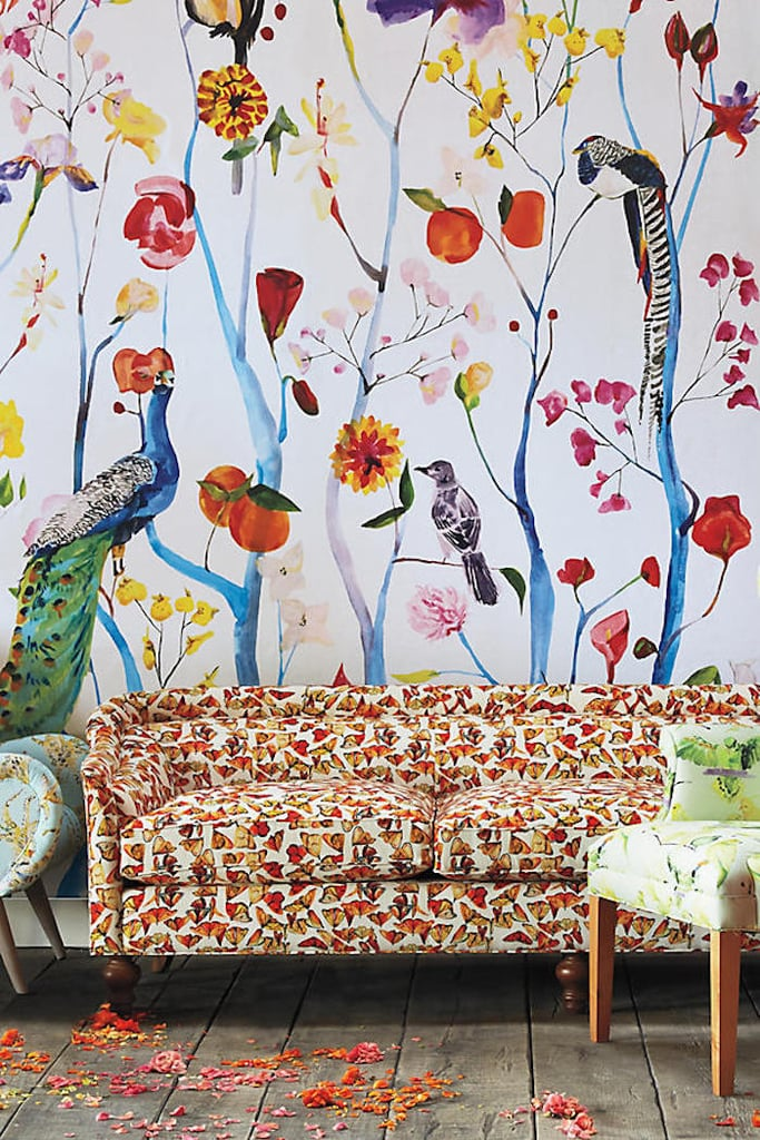Anthropologie voutsa garden chinoiserie mural summer for Anthropologie mural