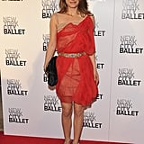 Natalie Portman in a Red Mesh Dress at the 2012 New York City Ballet Spring Gala