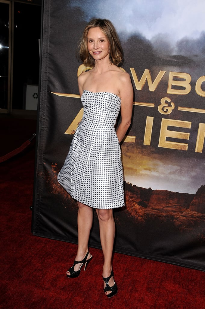 Calista Flockheart wore a strapless dress to the San Diego premiere.
