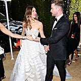Justin Timberlake and Jessica Biel at the 2018 Emmys