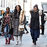 Shiona Turini (center) at Fashion Week Fall 2016