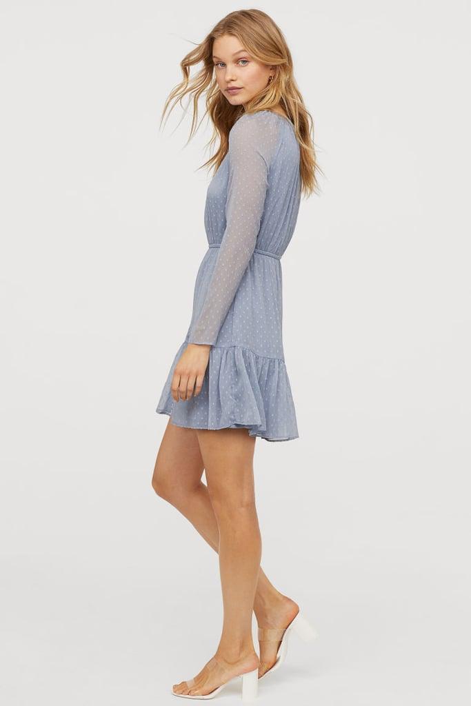 99b48f5b0830 H M Flounced Dress