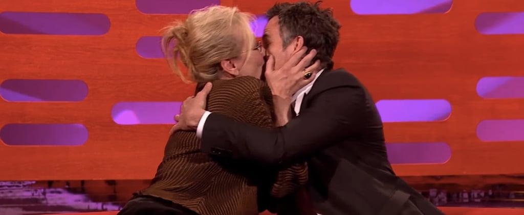 Mark Ruffalo Is Speechless After Meryl Streep Gives Him a Serious Smooch