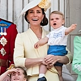 Photos of Kate Middleton Holding Baby Louis