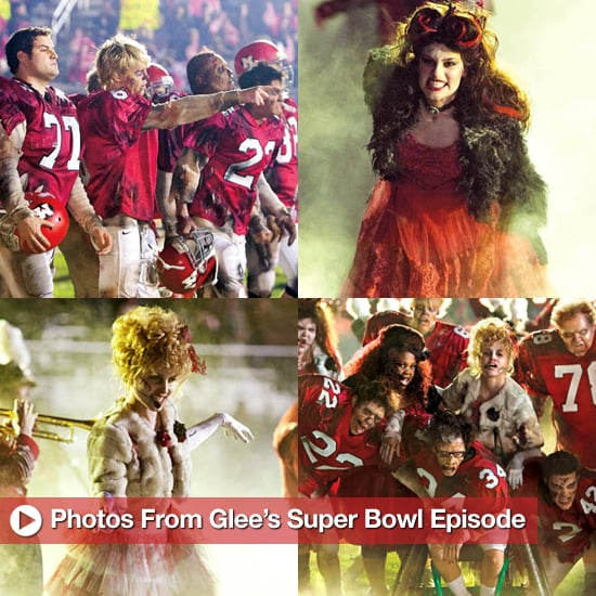 Pictures From Glee Super Bowl Thriller Episode