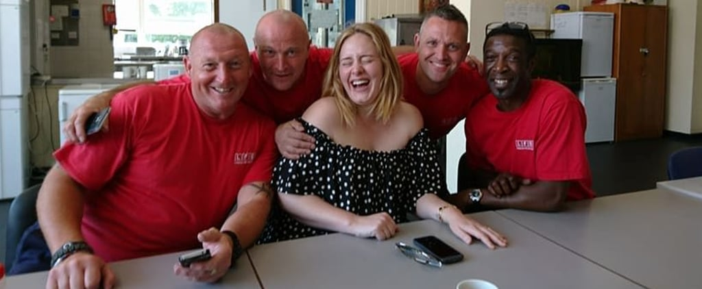 "Adele Visits Grenfell Tower Firefighters For a ""Cup of Tea and a Cuddle"""