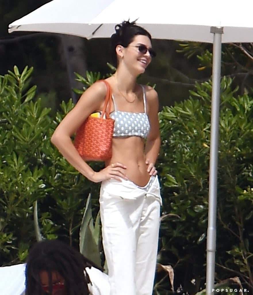Kendall Jenner Looks Unbothered in Her Polka-Dot Bikini After Split From Ben Simmons