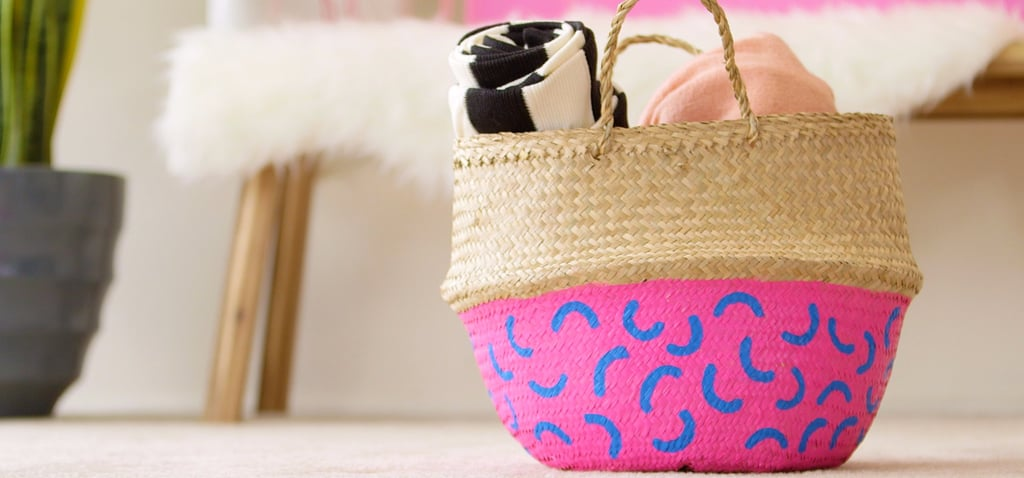 Yes, You Can DIY This Colorful Painted Storage Basket
