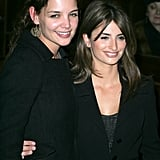 Katie posed with Tom's ex, Penelope Cruz, at the premiere of Don't Move in March 2005.