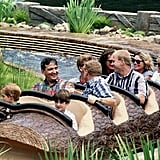 In 1993 Diana took her boys on a family holiday to Florida, and Harry rode Splash Mountain eight times. Fast forward 23 years, and when Harry was back to promote his Invictus Games, he made sure to take another spin on the famous log flume.