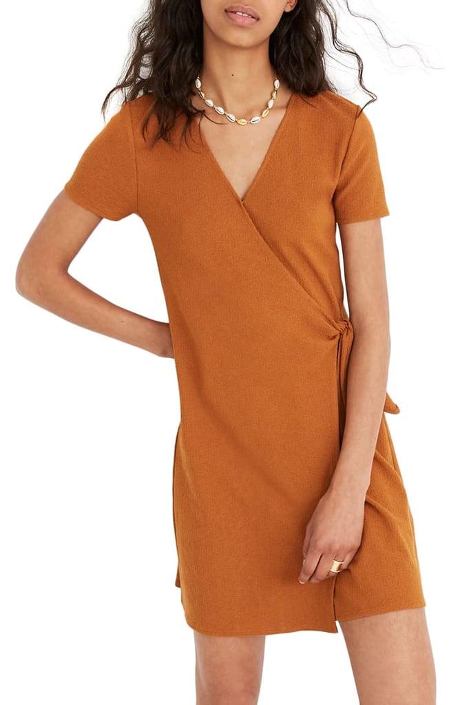 Madewell Texture & Thread Short-Sleeve Wrap Dress