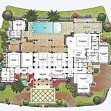 The Portfolio home's ground-floor plan.