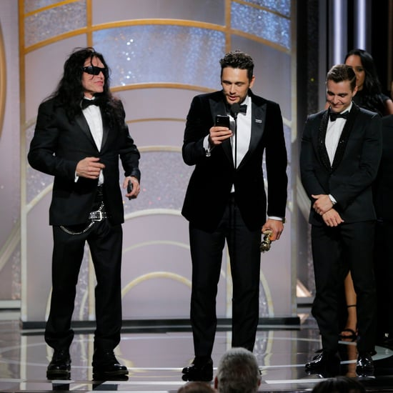 Tommy Wiseau With James Franco at 2018 Golden Globes