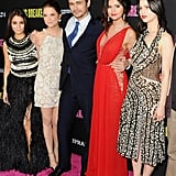 The cast of Spring Breakers attended the premiere, sponsored by Supra.