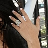 Newlywed Kim Kardashian Shows Off Her Enormous Diamond Wedding Band