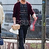 Ryan Gosling carried a brown paper bag in NYC.