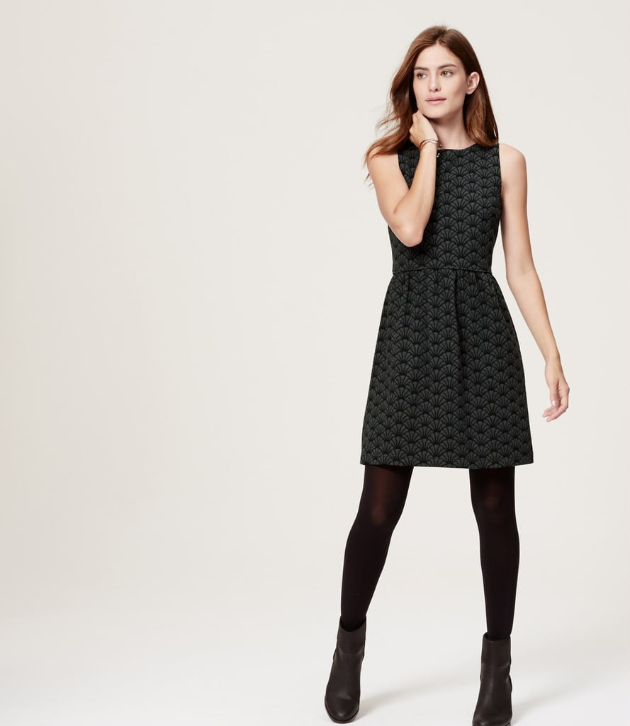 Loft Deco Flare Dress ($90)