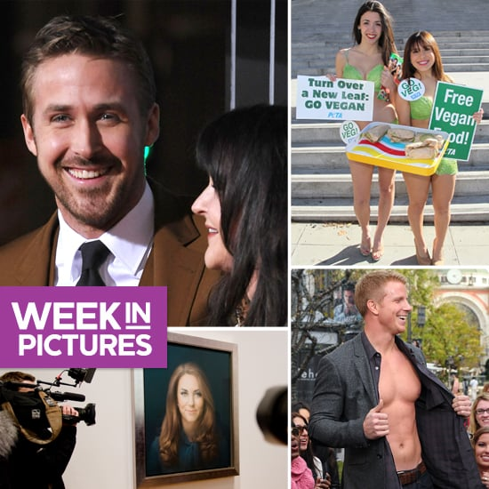 Kate's Portrait Is Unveiled, Bachelor Sean Shows His Six-Pack, and Ryan Rules the Red Carpet