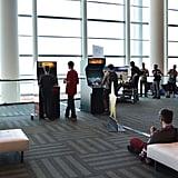 Old-school arcade games were also set up.