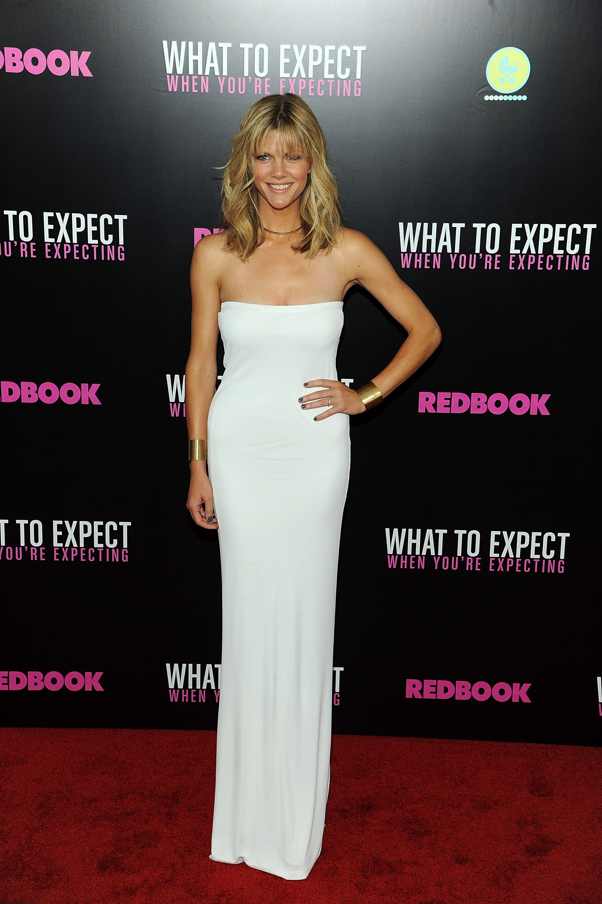 Brooklyn Decker in White Calvin Klein at 2012 What to Expect When You're Expecting NYC Screening