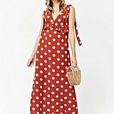 Forever 21 Polka Dot Maxi Dress