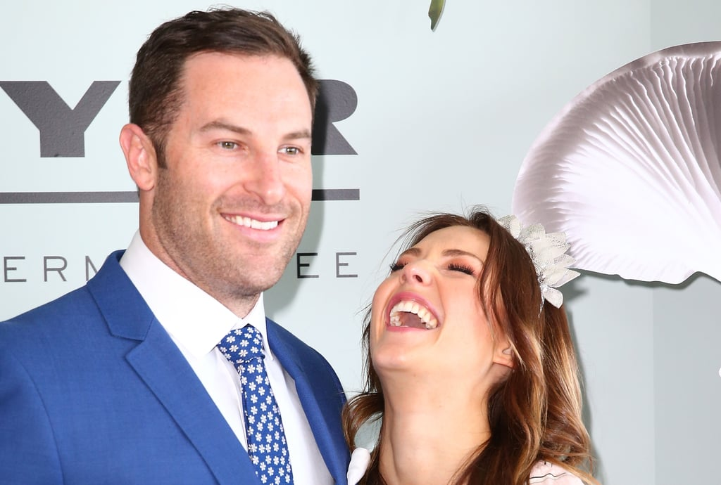 Sam Frost and Sasha Mielczarek at 2015 Melbourne Cup