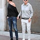 Ellen DeGeneres and Portia de Rossi Hold Hands LA Oct. 2016